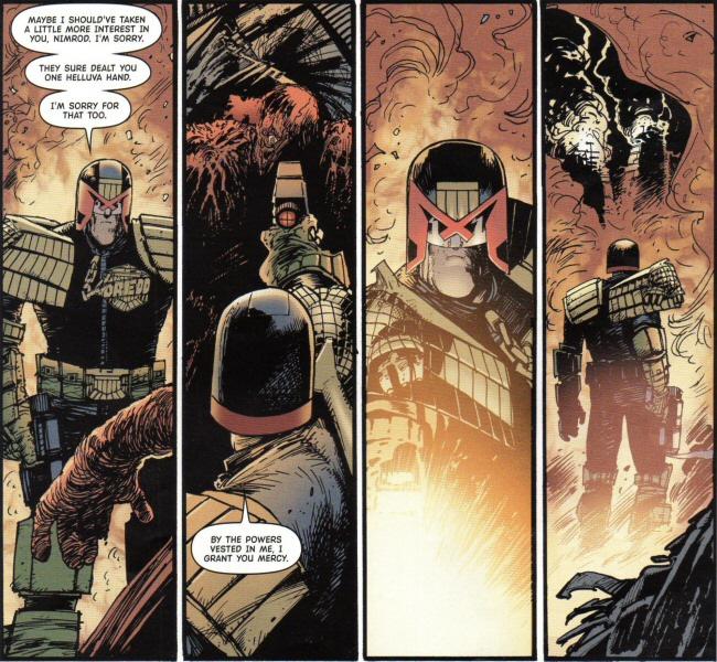 Dredd speaks to Nimrod
