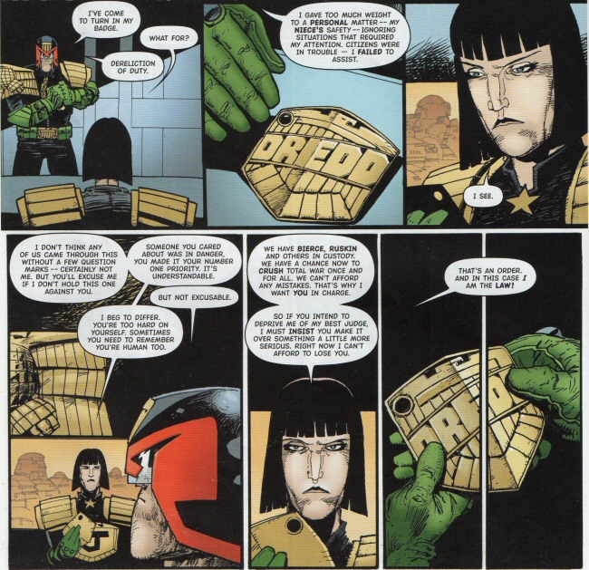Dredd tries to resign