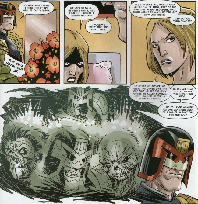 Vienna speaks to Rico about Dredd killing Nimrod