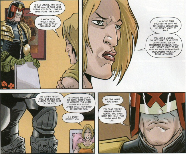 Rico sticks up for Dredd