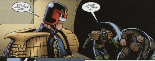 Rico teasing Dredd