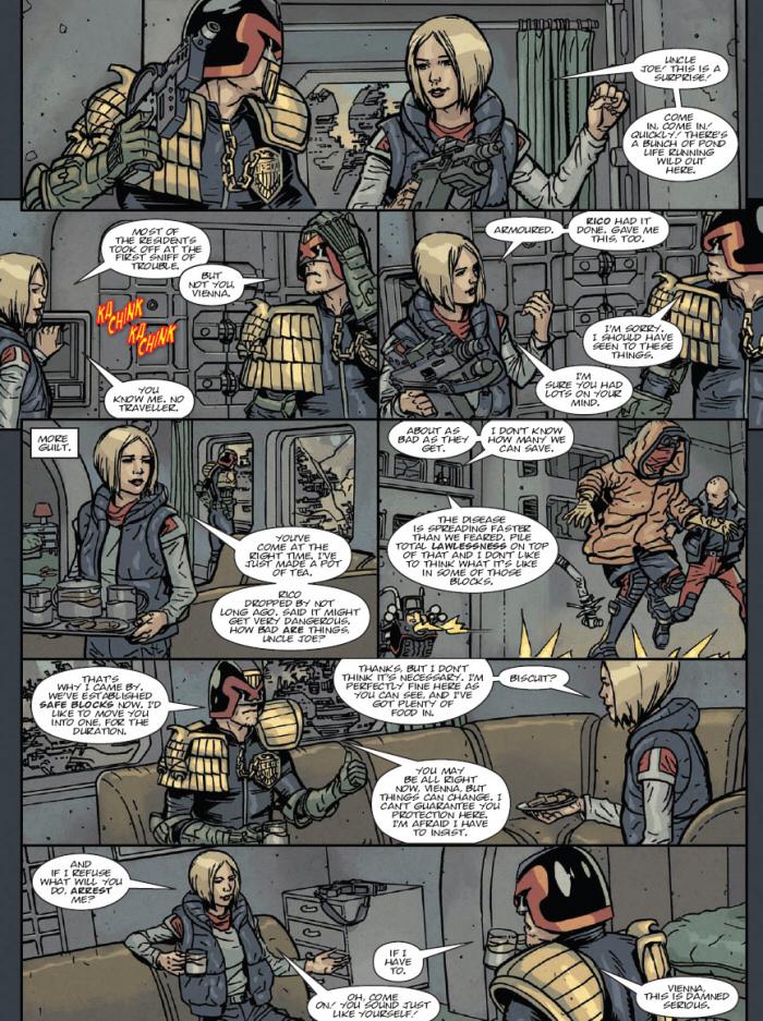 Dredd drops in on Vienna