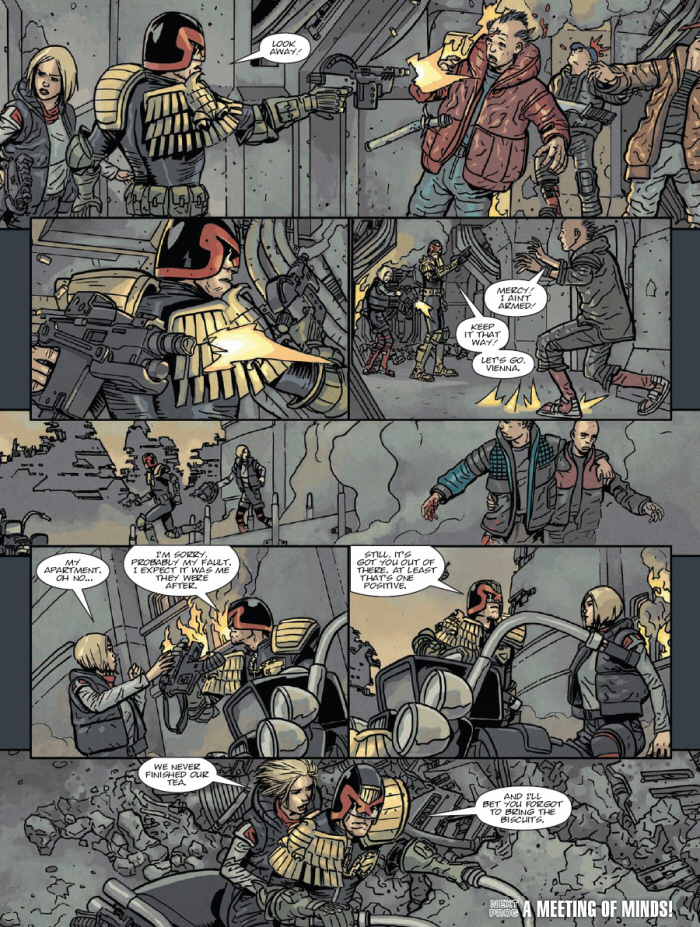Dredd and Vienna ride off together