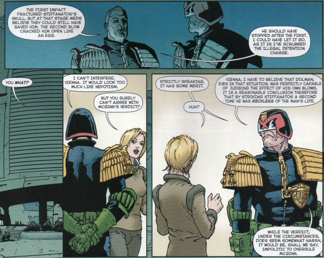 Dredd is reluctant to intervene