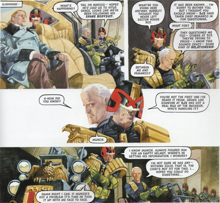 Hubble speaks to Dredd