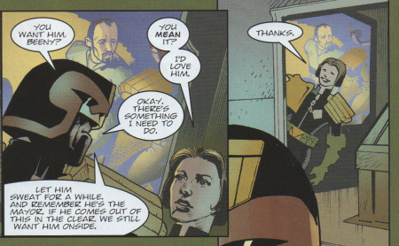 Dredd gives Beeny the assignment