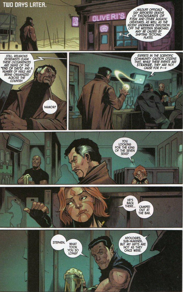 Doctor Strange arrives