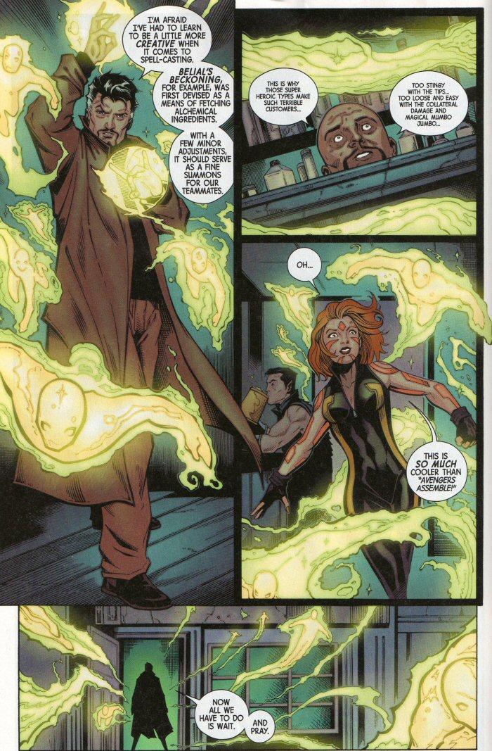Doctor Strange casts the summoning spell