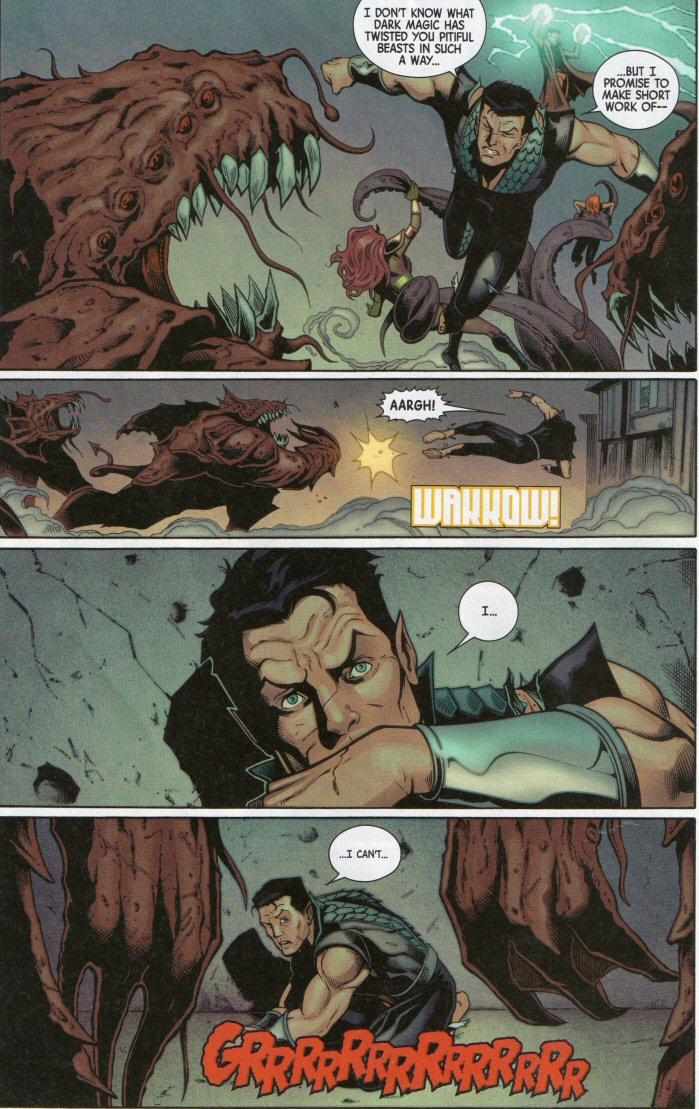 Namor cowering