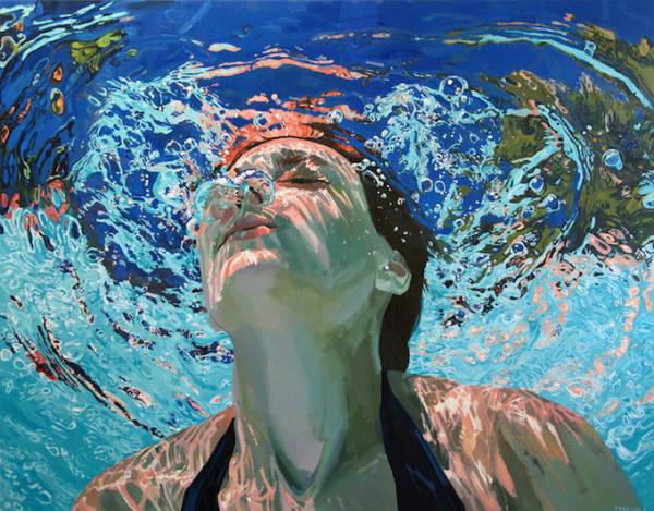 подводный портрет женщины 1