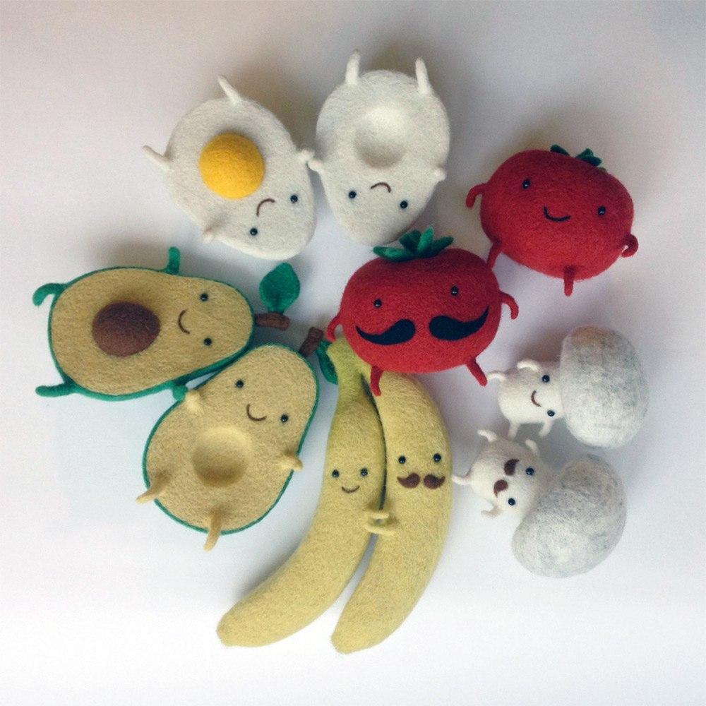 Войлочные игрушки Анны Довгань