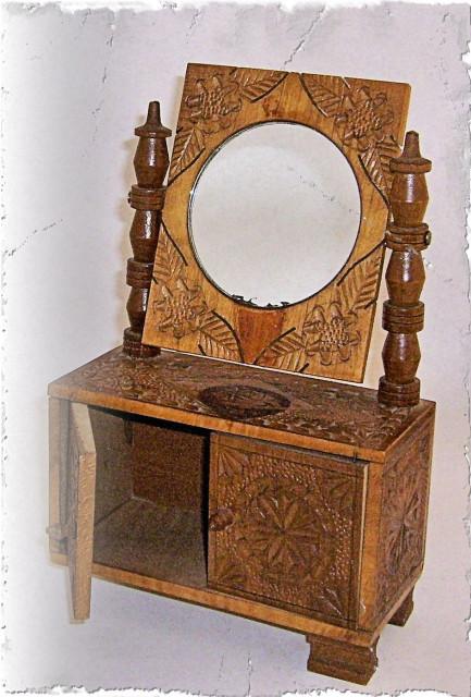 Hand-carved dresser