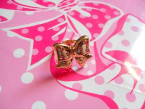 AP sparkling ribbon ring