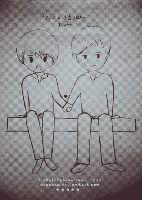 chibi!YJ holdinghand