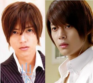Yamapi Kim Hyun Joong the imitator hair drew...