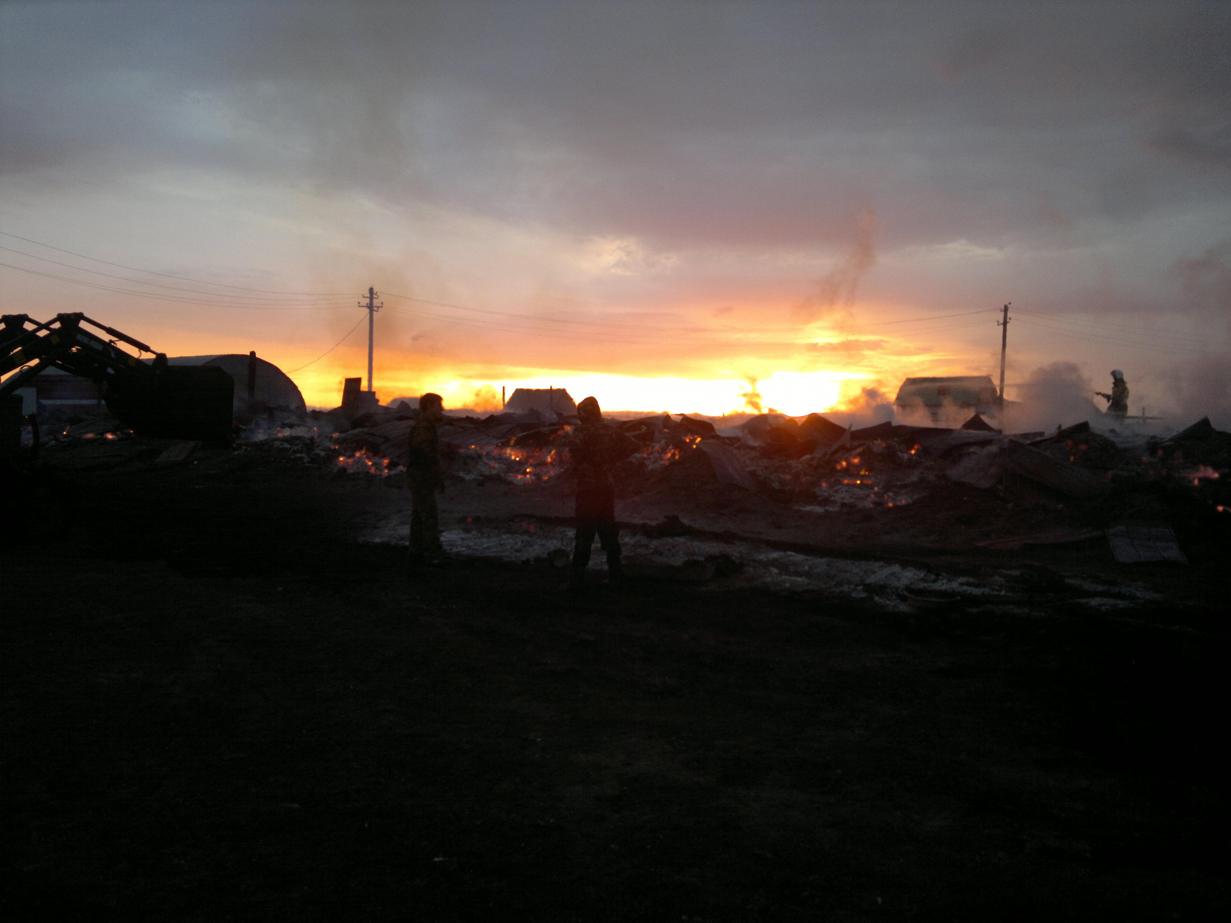 2012-10-14 Пожар конюшни.Улу-Теляк