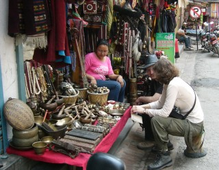 Tourists at Thamel