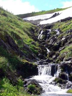 Водопад на Приполярном Урале