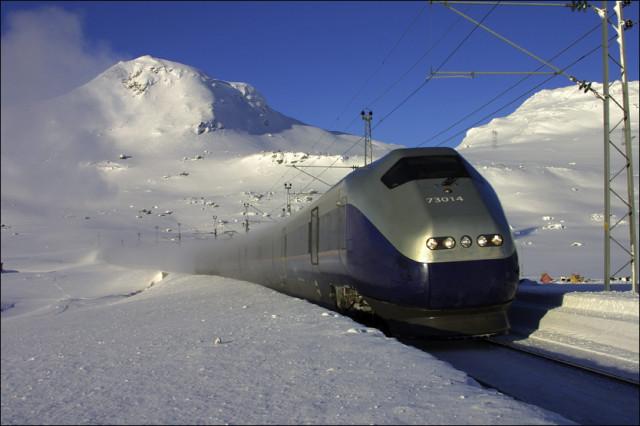 NSB Regional tog - TGV style, no byke-vagon