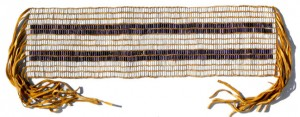 The Two Path Wampum Belt (Guswentah) first presented in 1613