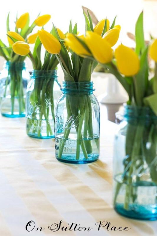 Весенний букет: сервировка