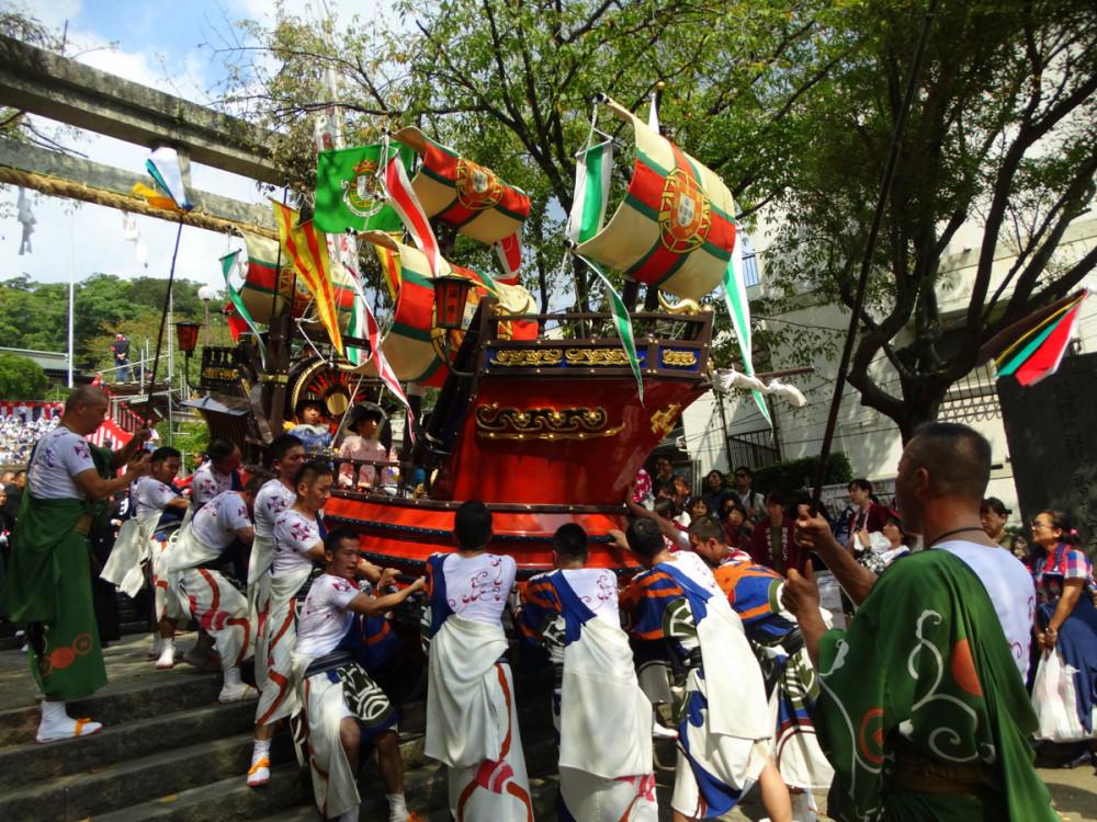 1 день в Нагасаки во время фестиваля Сува мацури. 9.9.2017.