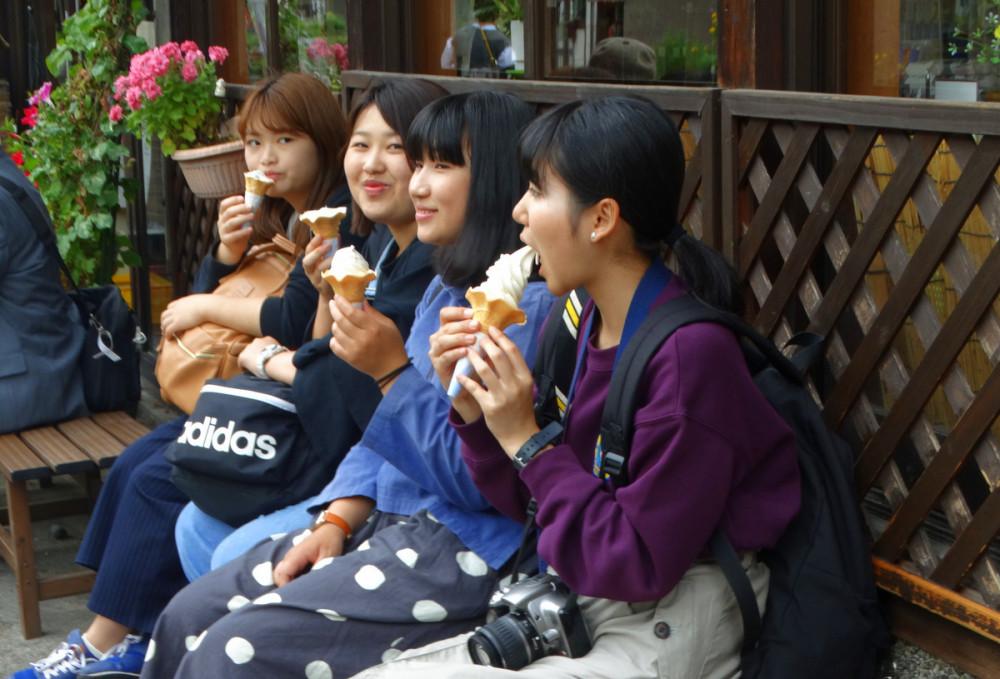 Сиракава Го по дороге  из Канадзавы в Киото.