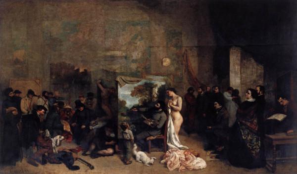 1855 мастерская художника