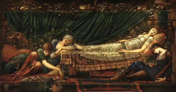 Edward Coley Burne-Jones - Sleeping Beauty - копия