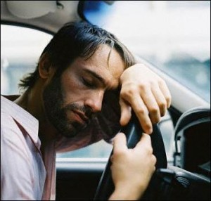 спит за рулем