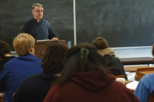Father Jerry Fagin in the Classroom