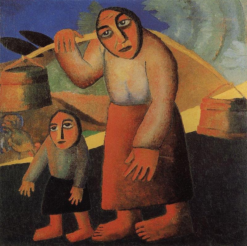 Казимир Малевич Крестьянка с коромыслом и ребенок