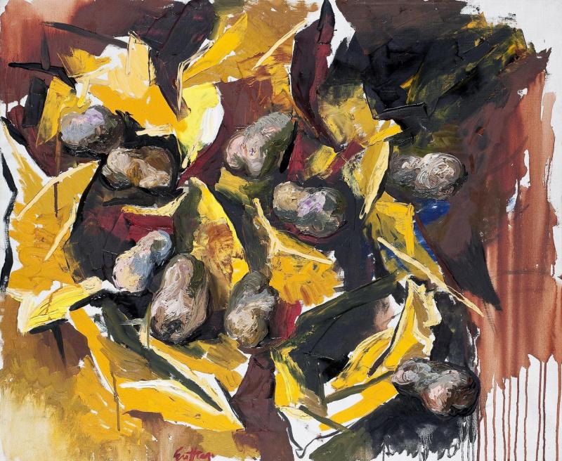 Ренато Гуттузо Картофель на желтой бумаге