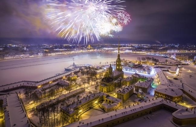 Петербург фейерверк