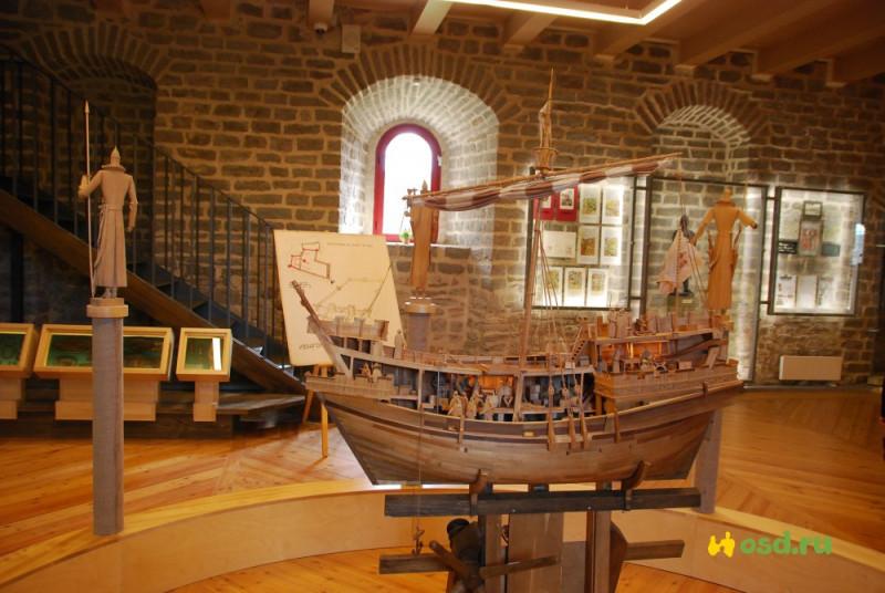 Иваногородская крепость, макет корабля