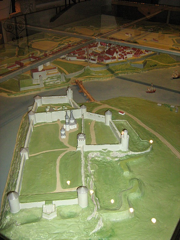 Макет Ивангородской крепости
