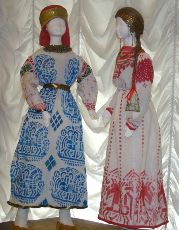 Макет народных костюмов