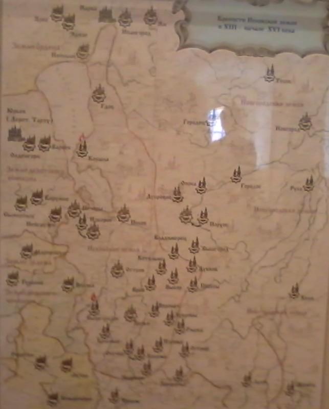 Карта Псковских земель