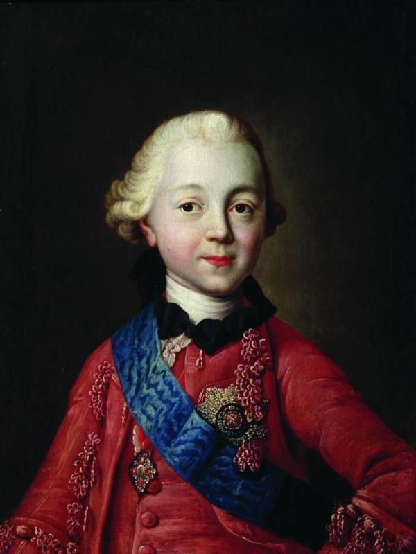 Портрет Павла 1 в детстве