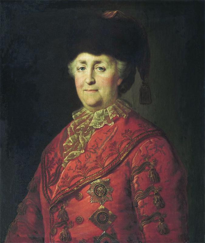 Портрет Екатерины 2 в дорожном костюме