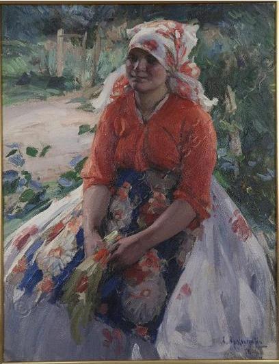 Архипов А.Е. Портрет крестьянской девушки