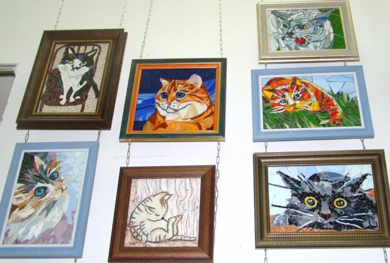 Мозаичные коты