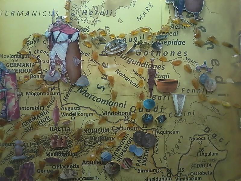 Карта движения янтаря