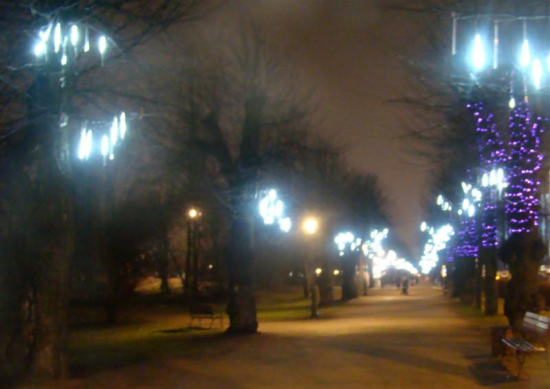 Выборг бульвар вечер