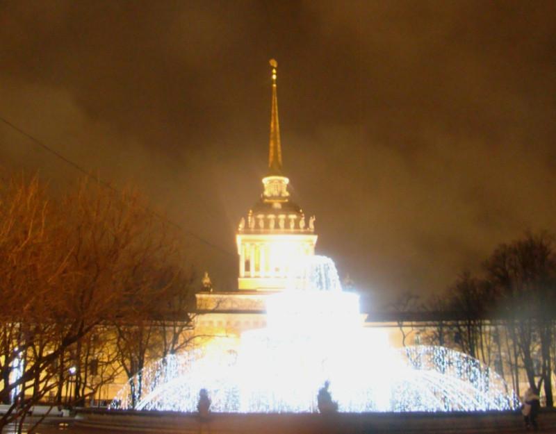 Световой фонтан в Александровском саду