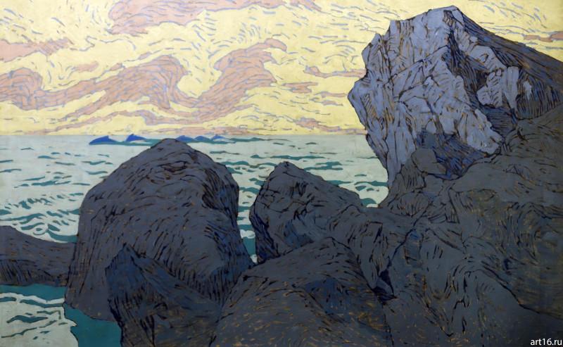 Арктика Коровин скалы на берегу моря