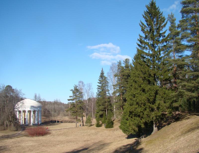 Павловский парк. Храм дружбы. Март 2020