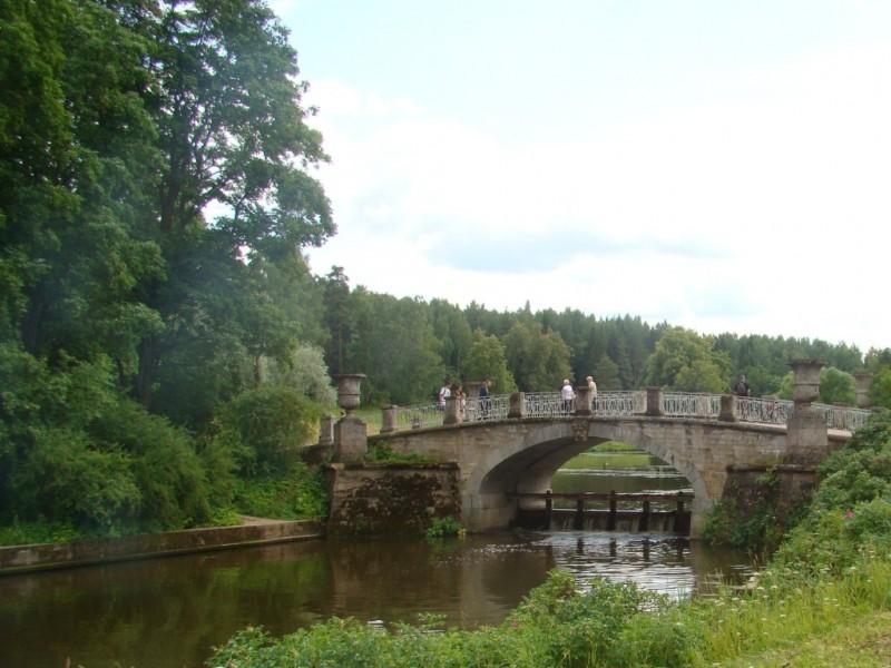 Павловский парк. Висконтиев мост. Июль 2015