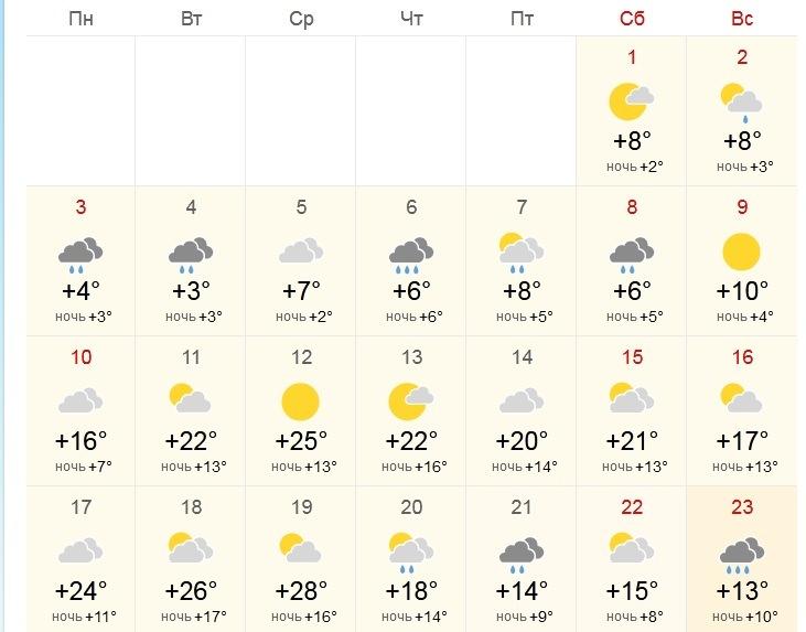 Погода май 2021