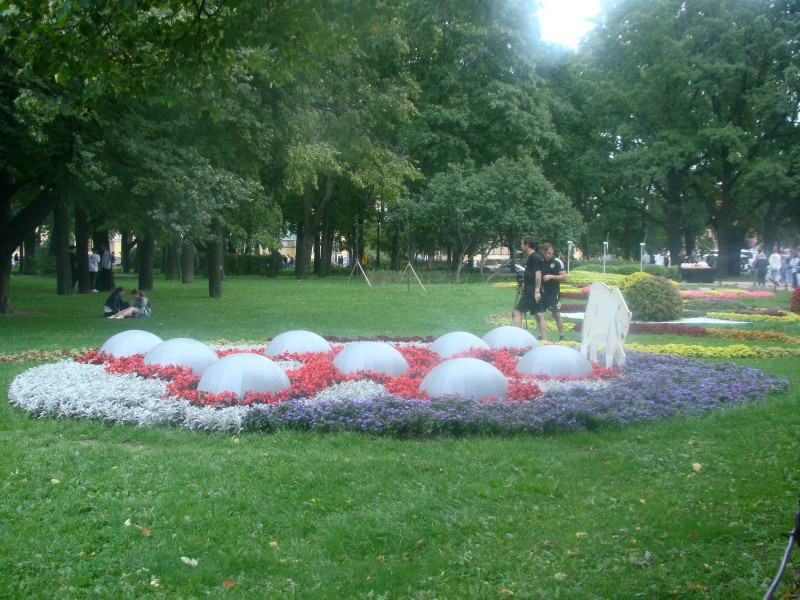 Александровский сад Петербург август 2021
